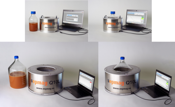 magnetic separation process determining separation time