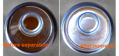 Comparison between before and after magnetic bead separation