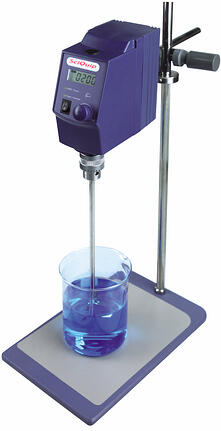 Unless the sonication method, overhead mixers are used to mix large volumes