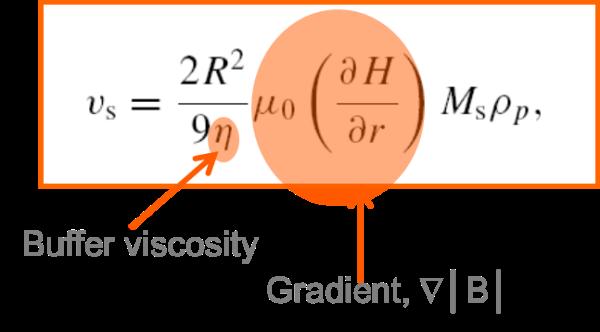 Magnetic bead separation speed formula