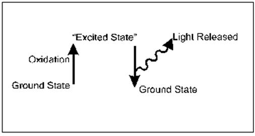 chemiluminescence vs fluorescence